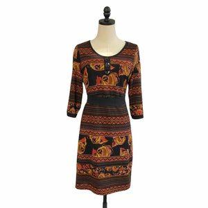 ModCloth Yumi Floral Knit Dress SZ 6/8 US